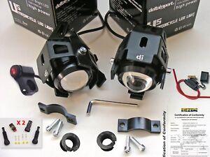 Coppia Faretti Moto Led U5 Unica Funz. Interruttore Connettori Fusibile A Scelta Blveucuh-07225643-448571332