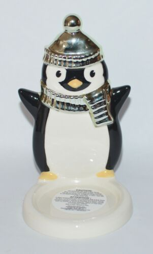 BATH /& BODY WORKS BLACK PENGUIN SMALL MINI CANDLE HOLDER SLEEVE 1.3 OZ CERAMIC