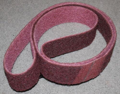 2 x 48 Sanding Belt Surface Conditioning Medium Grade Maroon Industrial Grade