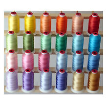PASTEL 24 CONES POLYESTER MACHINE EMBROIDERY THREAD 1100yds 40wt THREADELIGHT