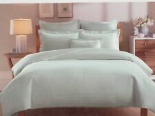 NEW Real Simple TWIN DUVET COVER Linear RIBBED MATELASSE 100% COTTON Beige STONE
