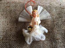 Vintage German Angel Carrys Lantern ,Angel Hair Clouds,Wings Christmas Ornament
