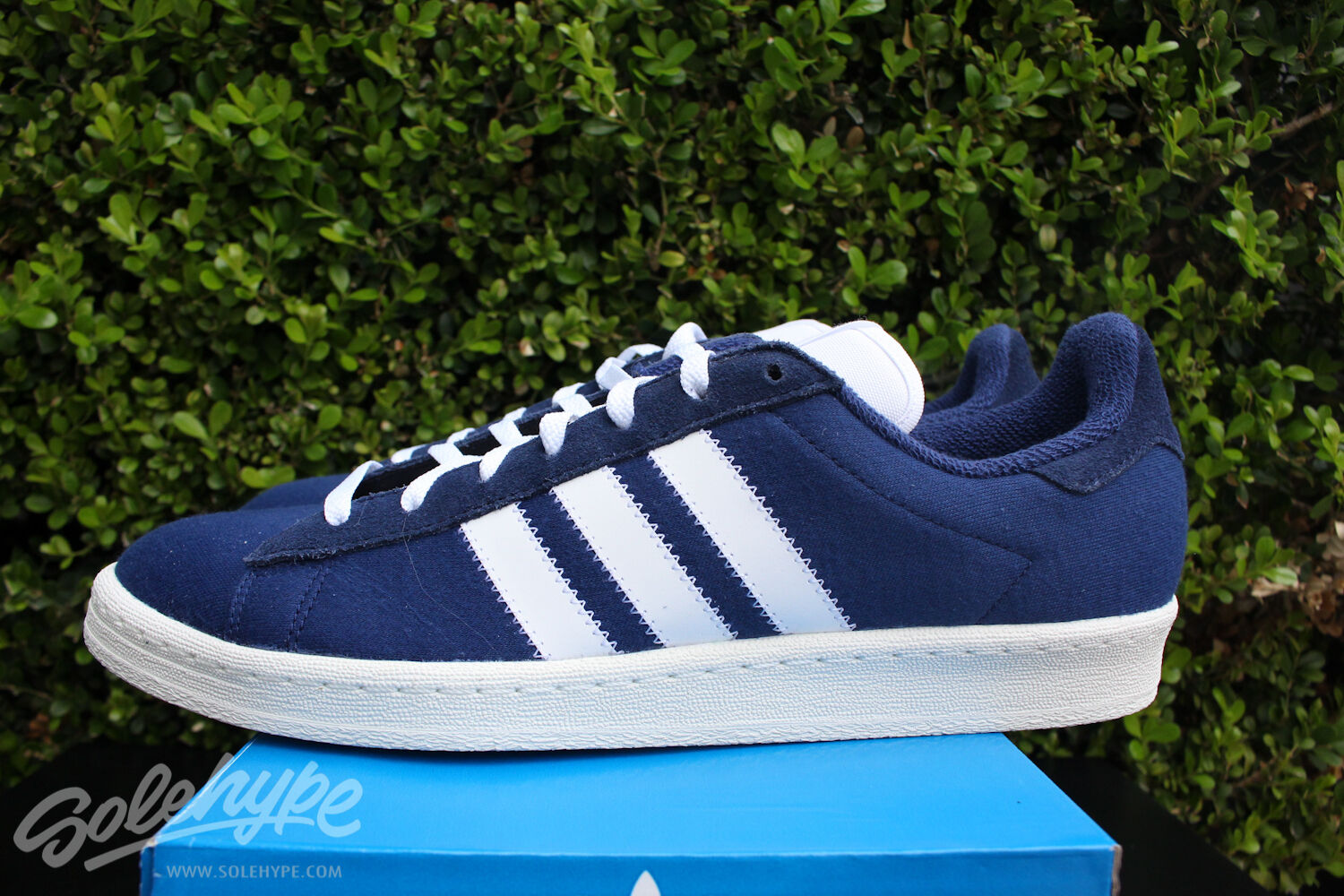ADIDAS CAMP  80'S BW SZ 7 BEDWIN AND THE HEART BREAKERS BLUE WHITE S75674