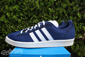 size 40 81ead 24385 ADIDAS CAMPUS 80'S BW SZ 7 BEDWIN AND THE HEART BREAKERS BLUE WHITE ...