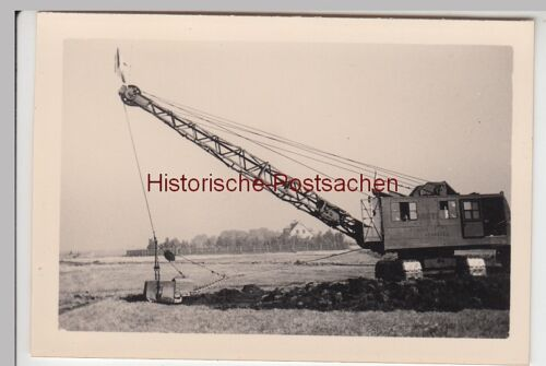 (F7225) Orig. Foto Baustelle der Firma Thosti, Seilbagger 1939