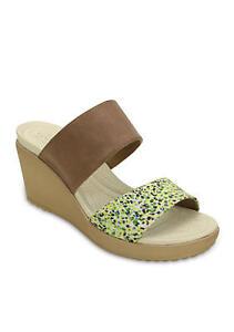 a0cfa9e252bb New Women s Crocs Leigh II 2 Strap Slide Sandal Shoes SZ 6 7 8 9 10 ...