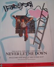 DAVID BOWIE Never Let Me Down ORIGINAL Promotional POSTER 22x16 inches
