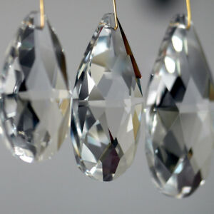 10x-lot-Clear-Drop-Crystal-Glass-Beads-Chandelier-Ornament-xmas-Gift-Making-BEAD