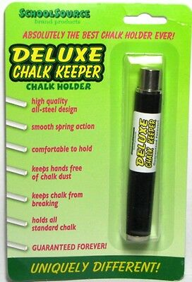 Teachers Deluxe Chalk Holder Keeper for Blackboard - All Metal Construction