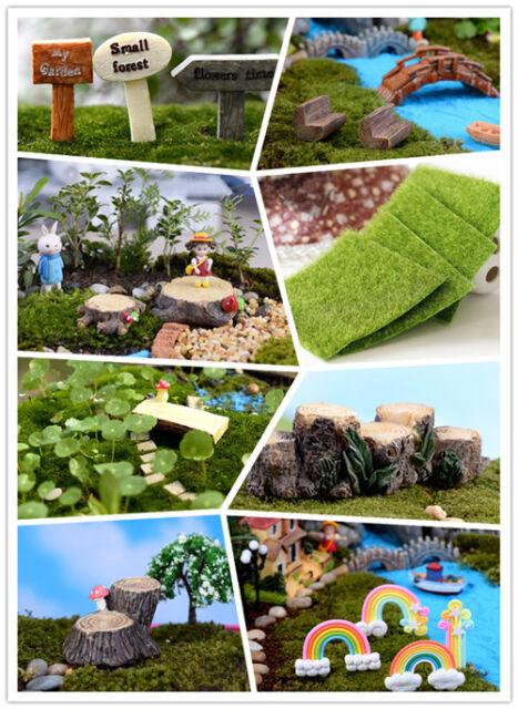 tree stump for Miniature Garden Ornament DIY Mushroom Craft Pot Fairy Dollhouse