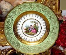 Antique Hutschenreuther Royal Bavarian 24KT Gold Etched Portrait Plate Vintage