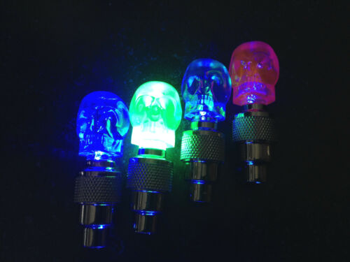 SKULL face LED Valve CAP Bike Bicycle Wheel Stem tire tyre Light FOR CYCLING 1