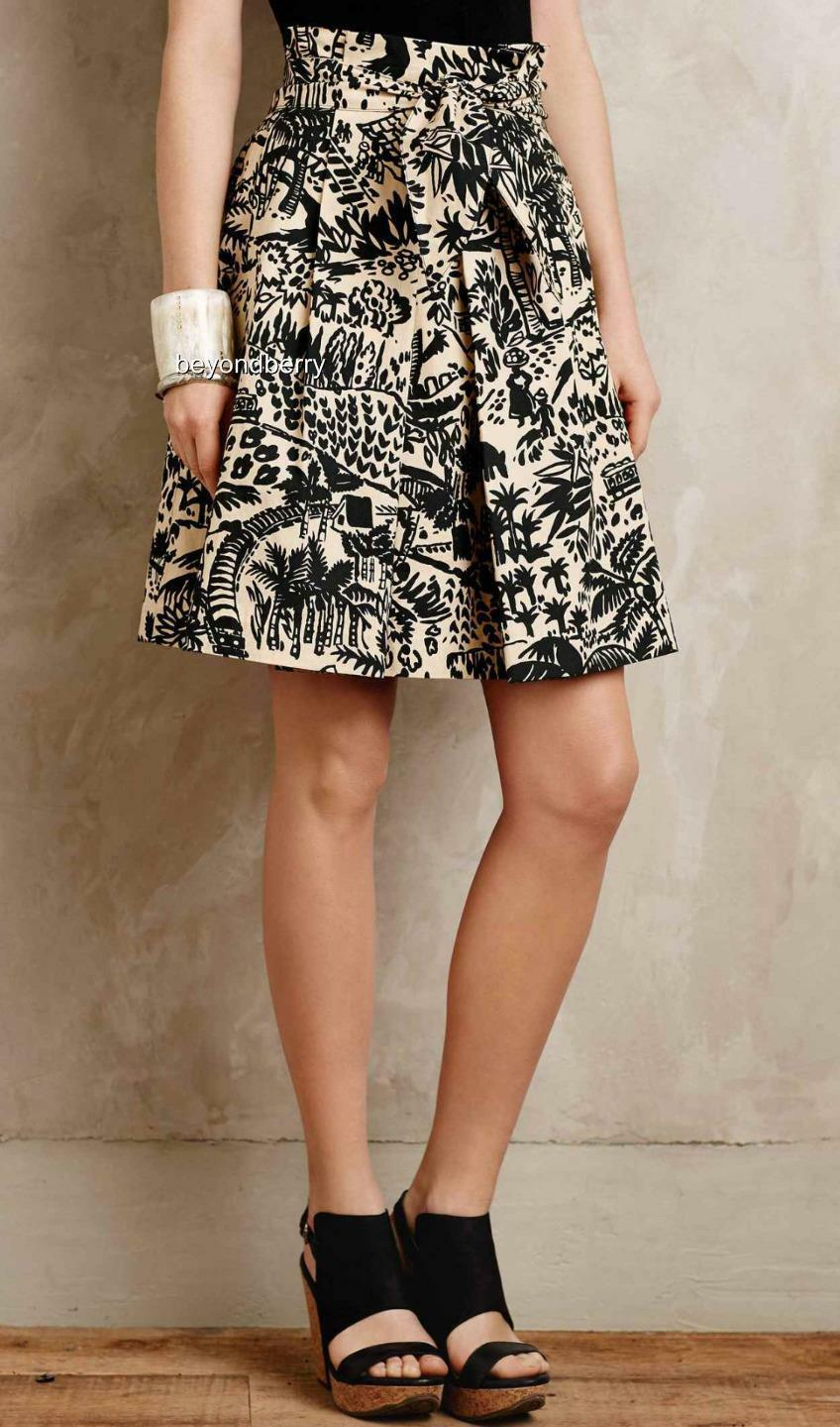 NEW Anthropologie Palm Garden Skirt by Corey Lynn Calter  Size 4-6-8