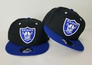 1da3977caba New Era NFL Black   Royal Blue Oakland Raiders Shield Logo 9Fifty ...