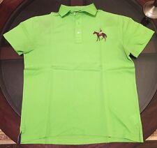 Ralph Lauren Purple Label Big Jockey Logo Polo Shirt Size Medium Made In Italy