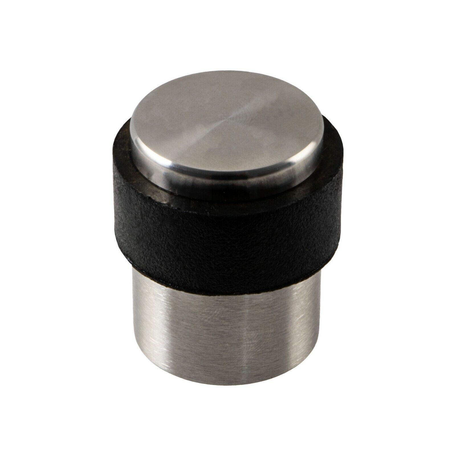 Türstopper Boden Türpuffer Edelstahl Gummipuffer Silber Kleben oder Schrauben