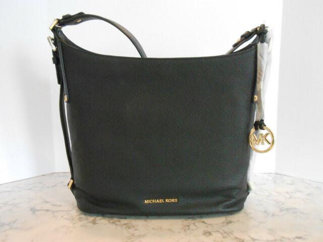 Michael Kors Bedford Belted Large Leather Shoulder Bag Black 38h6gbfl3l