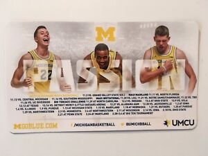 Details About University Of Michigan 2017 2018 Magnetic Basketball Schedule 4 X 7 New