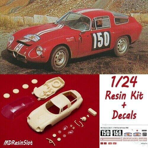 1 24 Alfa Romeo Giulia TZ 1 Tour de France '64 resin corpo kit Slot auto + Decals