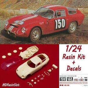 1/24 Alfa Romeo Giulia Tz Tour De France '64 Resin Body Kit Slot Car + Decals De Nouvelles VariéTéS Sont Introduites Les Unes AprèS Les Autres