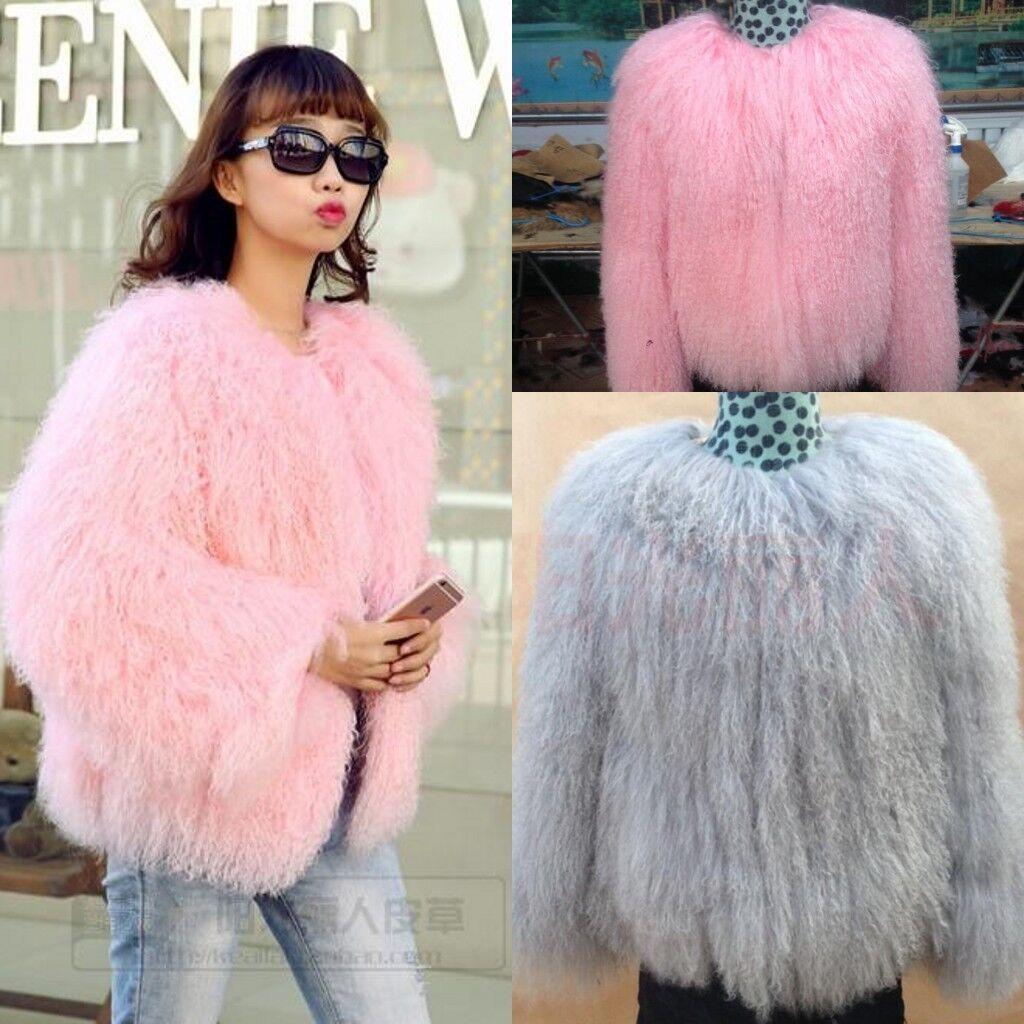 Ladies Real Wool Fur Hair Coat Female Long Paragraph Lamb Section Curl Coat