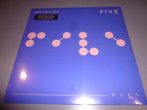WHITE-LIES-Five-LP-ltd-heavywight-blue-Vinyl-8page-Booklet-NEU-amp-OVP