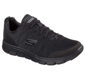 Deporte Comodidad Negro Caminar Skechers 52836 Hombres tren Zapatos memoria ocasional Caminar de Espuma xOZ0qw4p8