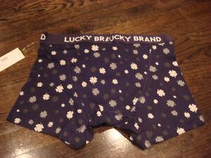3cdc5875d61b LUCKY BRAND MEN'S BOXER BRIEFS LUCKY CLOVER BLACK SIZE LARGE - BRAND ...