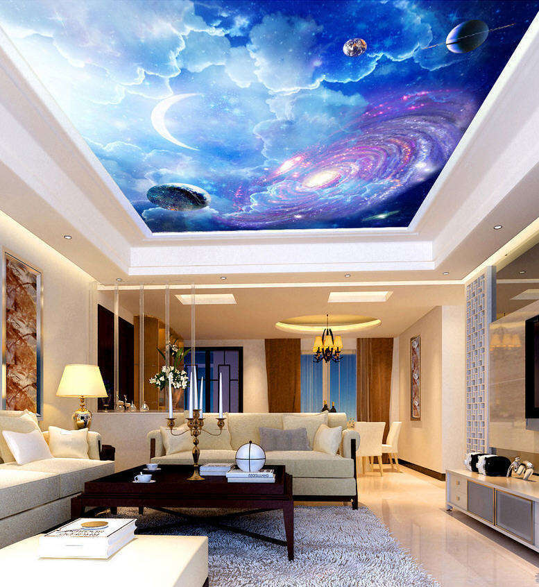 colorful Planet Full Wall Mural Photo Wallpaper Print 3D Ceiling Decor Home