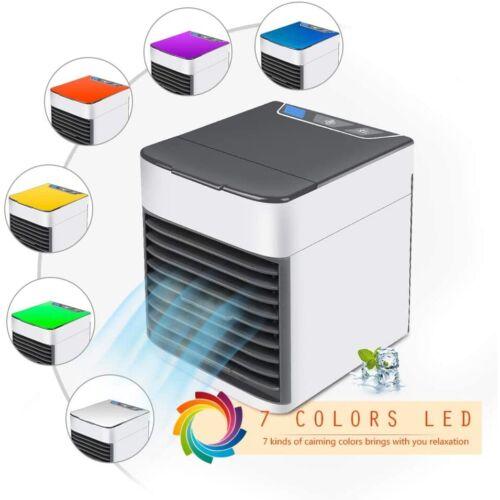 Air Cooler USB Desktop Mini Conditioner Portable Adjustable Cooling Fan 7 Colors