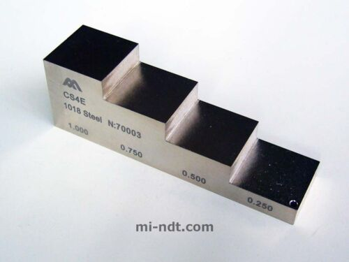 inch 4 steps thickness calibration block 1018 Carbon Steel Equality 2212E