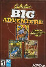 CABELA'S BIG ADVENTURE - Deer Hunt, 4x4 Off-Road 3, Big Game Hunter 3x PC GAMES