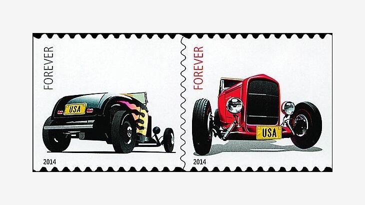 2014 49c Hot Rods, Pair Scott 4908-9 Mint F/VF NH