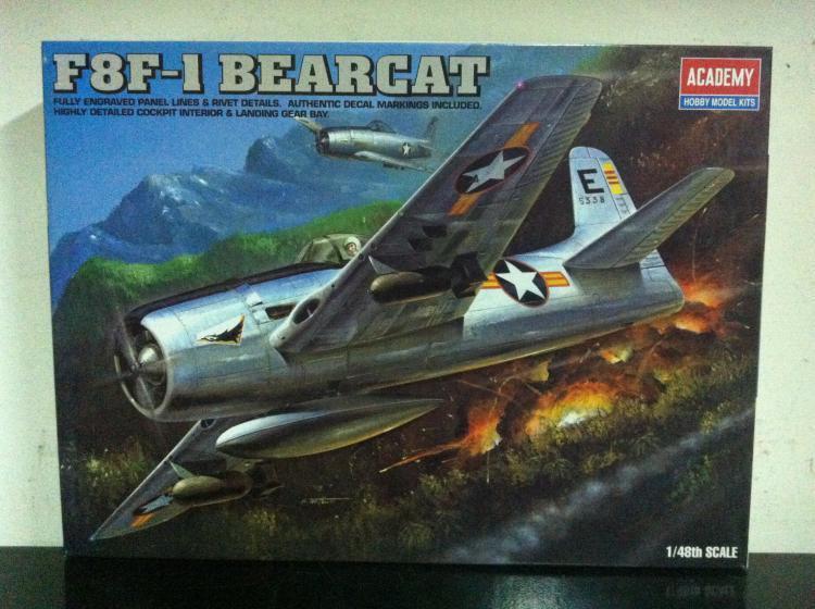Academy 2000 Kit di Montaggio 1:48 F8F-1 BEARCAT MIB, 2000 Academy 266464