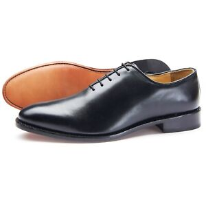 Samuel-Windsor-Men-039-s-Shoes-Black-Leather-Lace-Up-Classic-Derby-UK-Sizes-5-14-NEW