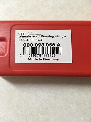 Genuine  VW Audi Warning Triangle /& Bracket Kit 000093056A