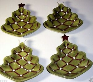 4 Pottery Barn Seasons Greetings Christmas Holiday Tree ...
