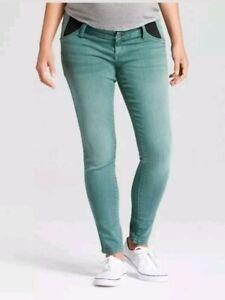 927cb608d4904 Image is loading TARGET-Isabel-Maternity-Green-Wash-Denim-Jeans-Skinny-