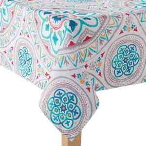 Food Network Indoor/Outdoor Medallion Printed Fabric Tablecloth ...