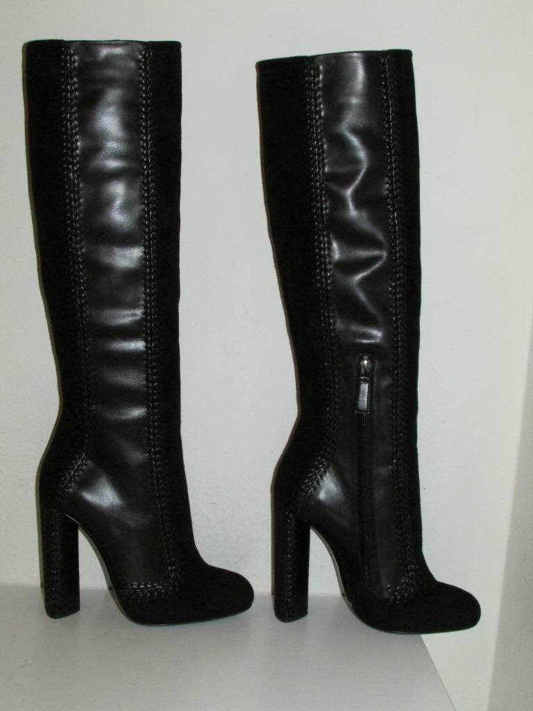 Auth $3K Tom Ford Leather & Suede Patchwork Knee High Boots 35 36 37.5 39.5 40.5