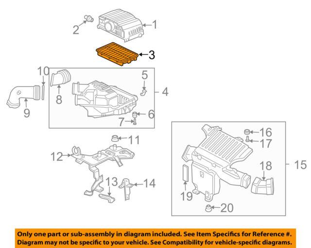 Genuine Honda Parts 17220-PZA-000 Air Filter for Honda Civic Hybrid