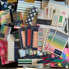 Huge Lot Emily Ley Simplified Planner Supplies Stickers Notebooks Clipfolios Etc