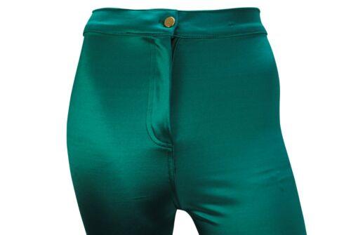 Da Donna Topshop Skinny Fit Vita Alta Discoteca Jeggings Taglia 8 a 14 Pantaloni Donna