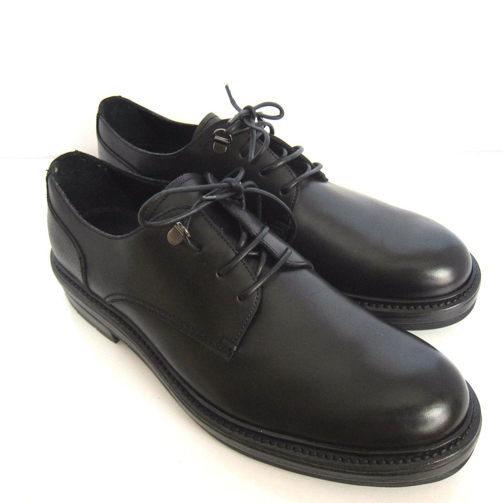 C-1139218 Neuf ErHommesegildo Zegna Noir Derby   Chaussures Marqué Taille 7.5 US