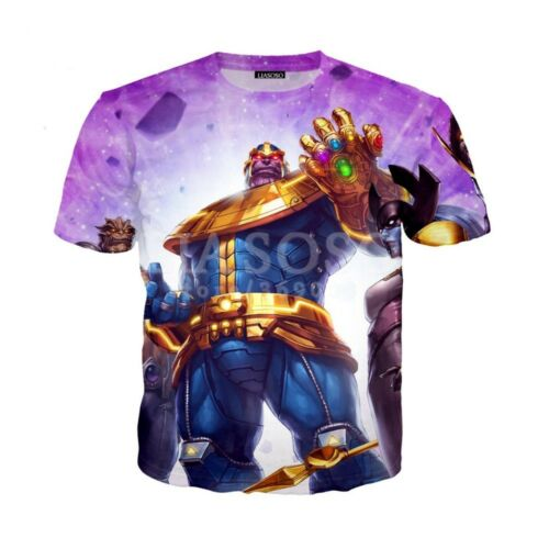 Infinity War 3D Print Casual T-Shirt G208 New Fashion Women//Men Avengers