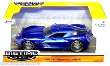 JADA  2009 CORVETTE STINGRAY CONCEPT BLUE1/24 DIECAST CAR 97468
