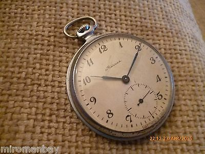 MOLNIJA - BEAUTIFUL VINTAGE MECHANICAL RUSSIAN (USSR) POCKET WATCH #02