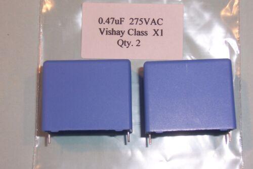 2 neuf 0.47uF 470nF 275V 275VAC classe X1 qualité industrielle condensateurs vishay qté