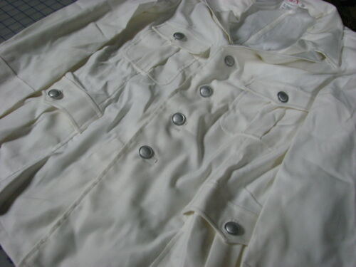 long sleeve white 65/% polyester 35/% cotton german shirt military M48-1 corp inc.