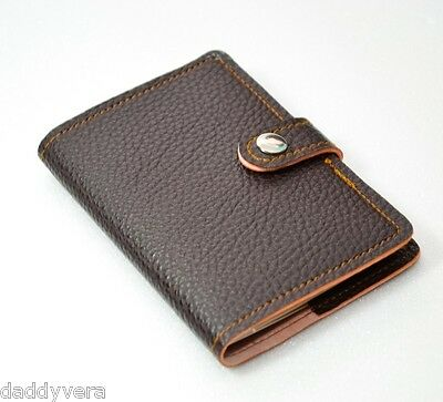 HIT DARK BROWN PASSPORT WALLET COVER CASE BAG HOLDER LEATHER ARTIFICIA WOMEN MEN